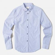 30% off Band of Outsiders - Striped Buttondown Shirt Sky Blue - $227.00