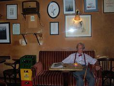 Herr Hawelka, Cafe Hawelka, Vienna Such a cool guy.