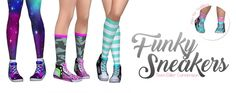 Funky Sneakers at SimLaughLove • Sims 4 Updates