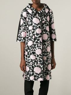 Antonio Marras Floral Appliqué Coat - Parisi - Farfetch.com