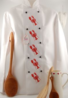 LOBSTER White Chef's Jacket with Short Sleeves #JoesCrabShack