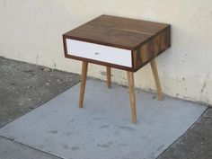 Mid Century Side Table With Drawer - JeremiahCollection - 2