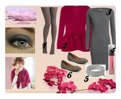 Outfit of the day: Grey and Raspberry
