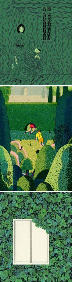 Green illustrations