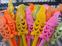 Your place to buy and sell all things handmade Summer Parties, Holiday Parties, Cocktail Sticks, Bird Party, Tropical Birds, Muted Colors, Festival Party, Cupcake Toppers, Parrot