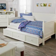 Casey Daybed - White - Full - Daybeds at Daybeds