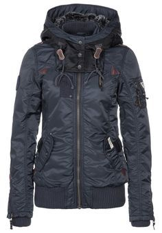 khujo - Winter jacket - blue. I could get excited for some cold weather if this was waiting in my closet!!!!