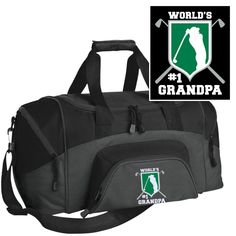 Sport Duffel Bag with Custom Embroidered Golf Emblem & Worlds #1 Grandpa! This is the perfect for any proud golfing grandpa. Order here - https://diversethreads.com/products/worlds-no1-golf-grandpa-embroidered-sport-duffel-bag?variant=10660877765
