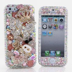 "(( Style # 487 )) This Bling case can be made for all iPhone 6 PLUS(5.5"") models. Our professional designers can handcraft a case for you in as little as 2 weeks. Click image for direct link"