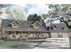 Eplans Log Houses House Plan - Inviting Front Porch - 2181 Square Feet and 3 Bedrooms(s) from Eplans - House Plan Code HWEPL55370