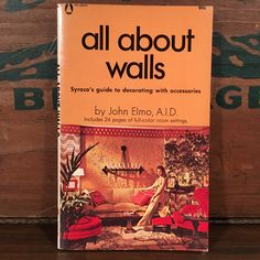 All About Walls Syroco's Guide to Decorating With Accessories Vintage Paperback Book 1969 Illustrated Instructional How-to by vintagebaron on Etsy