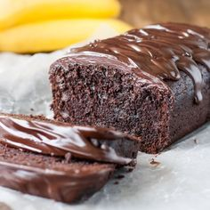Easy, one-bowl triple chocolate banana bread.