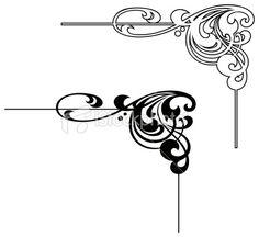Art Nouveau Designs   Art Nouveau Corner Royalty Free Stock Vector Art Illustration