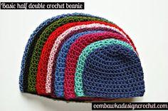 Half double crochet.  - 8,16,24,32,40,48,56,63.  stop when top measures correct