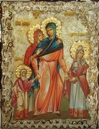 Saint Sophia and Her Three Daughters Faith, Hope, and Love (Feast Day - September By St. Dimitri of Rostov During the reign of the im. Love Feast, Printable Images, Three Daughters, Religious Icons, Divine Feminine, Christian Art, Ikon, Style Icons, Saints