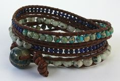 Check out this gorgeous wrap bracelet by jewelry designer Leah Skidmore who used one of my stoneware beads for a closure. Leah's Etsy shop: https://www.etsy.com/shop/LeahSkidmore