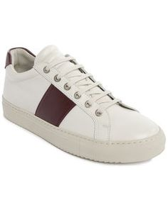 Sneakers Edition 4 Cuir Blanc Stripe Bordeaux NATIONAL STANDARD