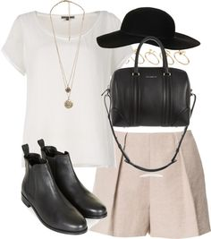 "styleselection: "" outfit for catching up with friends in summer by im-emma featuring leather boots """
