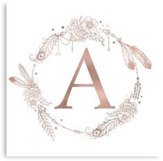 iphone wallpaper rose gold Letter A Rose Gold Pink Initial Monogram Mini Art Print by Nature Magick - Without Stand - x Monogram Wallpaper, Graphic Wallpaper, Iphone Wallpaper, A Letter Wallpaper, Disney Wallpaper, Monogram Stickers, Monogram Letters, Monogram Initials, Floral Letters