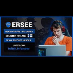 On instagram by esportshero #nes #microhobbit (o) http://ift.tt/1V0qwE3 the newest addition to our #Hearthstone pro team DreamHack Winter Finalist Ersee! Welcome to the #eSportsHero family!! Follow him @ESH_Ersee