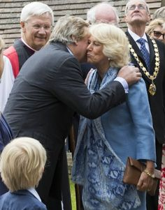 Camilla was greeted by the Duke of Marlboroough, a relative of Winston Churchill.