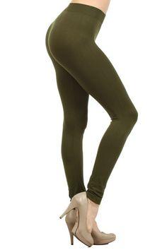 Ladies Solid Color Nylon Legging