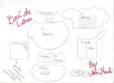 .::BAÚ DE LETRAS::. E.v.a. e Scrapbook: Caderno de Receitas e Molde de Presente