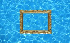 Dada Shojai, 1:29 #cornice oro #gold #pool #water #texture #art #collage #graphic #frame #gold frame #artists on pinterest #blue #barocco #kitsch