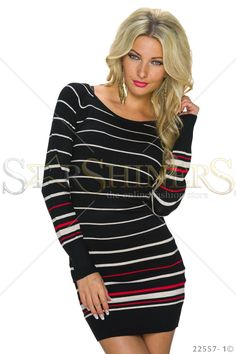 Stripped Prefference Black Dress