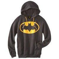Men's Batman Hooded Sweatshirt - Charcoal Gray