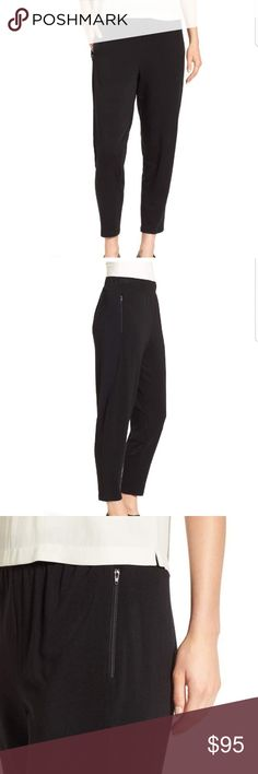 Eileen Fisher Stretch Fleece Tapered Ankle Pants Super soft and comfortable to wear | Can be styled up or down. | Can be worn as lounge wear or style it with some heels and a nice top..and you'll look good to go. Look beautiful and be comfortable at the same time! (: | Has zip pockets. | BRAND NEW WITH TAGS. Eileen Fisher Pants Track Pants & Joggers