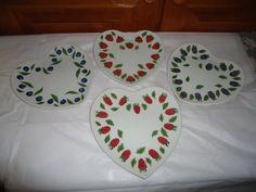 Williams Sonoma La Framboise Chene Dessert Plates.  Berry Pattern. Set of 4 #WilliamsSonoma