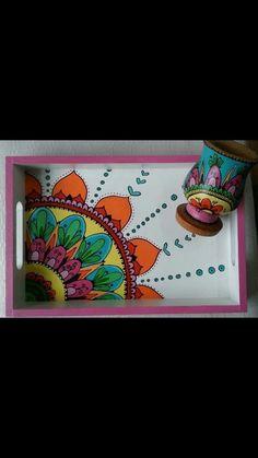 22 Pretty Wooden Home İnterior - Room Dekor 2021 Wood Arrow Decor, Wallpaper Nature Flowers, Painted Trays, Home Decor Colors, Indian Folk Art, Madhubani Painting, Ramadan Decorations, Country Art, Tray Decor