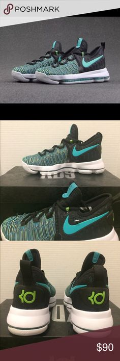 New Nike Zoom KD 9 Green Black Seaweed New KD9    Size 4.5Y  Very great looking basketball shoes with amazing comfort. Don't end up paying those high prices when you can get them for an affordable price.  No refunds No low ballers Authentic    NMD, AVD, EQT, Mastermind, Primeknit, original, all stars, Bape, Ultraboost, tubular, Zx flux, adidas women, adidas running shoes, women running track basketball soccer. Girly shoes NMD adidas, Jordan 5, Jordan 6, Jordan 7, Jordan 8, Jordan 9, Jordan…