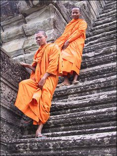Walked down the same stairs -Angkor Wat Cambodia Lotus Sutra, Angkor Wat Cambodia, Khmer Empire, Travel Log, Buddhist Monk, The Monks, National Museum, Southeast Asia, First World