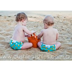 Beautriful swim nappies from Cushie Tushies! Love this pattern. It's so fresh!