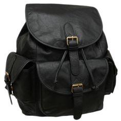 4eae3b9211fe5 Amerileather Urban Buckle-Flap Backpack Rucksack Bag