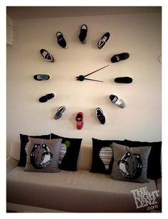 Shoe Clock...love this