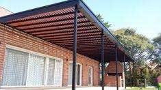 Pergola Attached To House Roof Small Pergola, Pergola Attached To House, Pergola With Roof, Cheap Pergola, Covered Pergola, Patio Roof, Pergola Plans, Diy Pergola, Pergola Kits