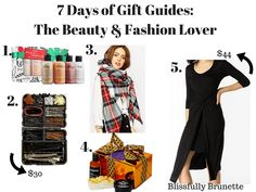 Today is day 2 of #7DaysOfGiftGuides. I have 5 gifts for less than $50 for a beauty & fashion lover in your life: http://blissfullybrunette.com/?p=5327