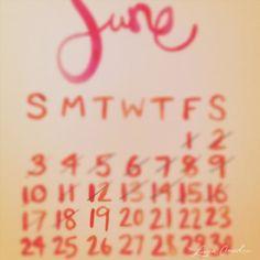 Calendar - JUNE 19