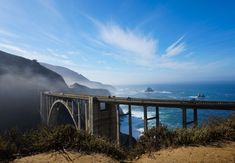 Bixby Creek Bridge at Big Sur on the Pacific Coast Hghway