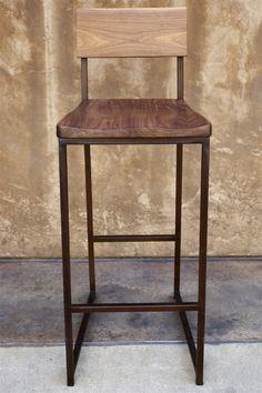 Wood + Metal Barstool 1