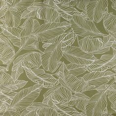 Leaf Fabric- Green Fabric- Olive Green- Scandinavian Fabric- Green Home Decor- Curtain Fabric- Designer Fabric- Botanical Fabric- Fabric Olive Green Rooms, Olive Green Decor, Flat Interior, Interior Design, Interior Ideas, Scandinavian Fabric, Fabric Decor, Curtain Fabric, Curtains