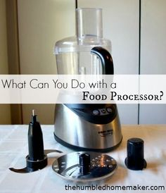 You can do so much with a food processor! It's like the must-have kitchen gadget!