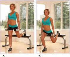 One leg box squats. Do 20 reps each leg, 3 sets, with 10lb. dumbbells in hand. Your butt will thank you