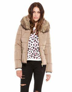 Bershka Armenia - BSK fur neck nylon jacket