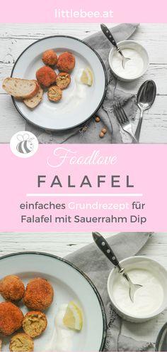 schnelle Kichererbsenbällchen   Falafel mit Sauerrahm Dip perfekt für kleine Kinderhände - BLW - oder als erfrischender Sommersnack - Falafel mit Dip