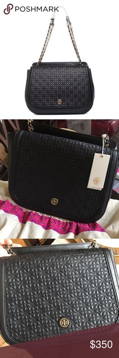 Tory Burch Quilted Bryant Adjustable Shoulder Bag Beautiful bag that can be work in many ways! Shoulder or crossbody. Very roomy inside. Very selective trades cus I might keep this! Modeling pics aren't mine, for size ref only. Tory Burch Bags Shoulder Bags