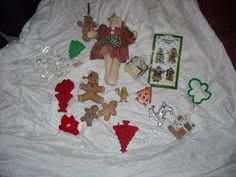 SALE LOT gingerbread man boy ornaments Christmas decoration decor dollfor